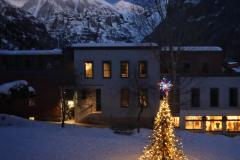 A tree, a #skitree and #Ajax at #dusk in #telluride #colorado #photooftheday #day23
