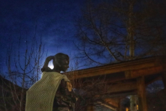 #supermoon through #braids of #sophia #statue #telluride #colorado #photooftheday #day69